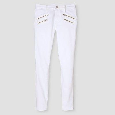 07bef0ba0 Women s High Rise Skinny With Zipper Pockets - Mossimo - Mossimo White 10R