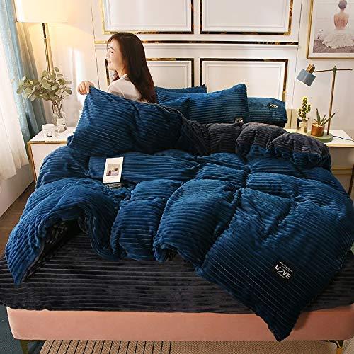 Wfbz Einfarbig Kristall Samt Flanell Fleece Doppel Samt Bettbezug