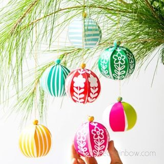 5 minute beautiful DIY paper Christmas ornaments for almost FREE Easy decorations  paper crafts for kids  family Video tutorial  printable templates  A Piece of Rainbow c...