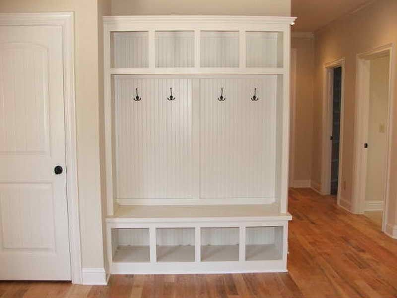 Mudroom corner bench lockers home decor pinterest Mud room benches