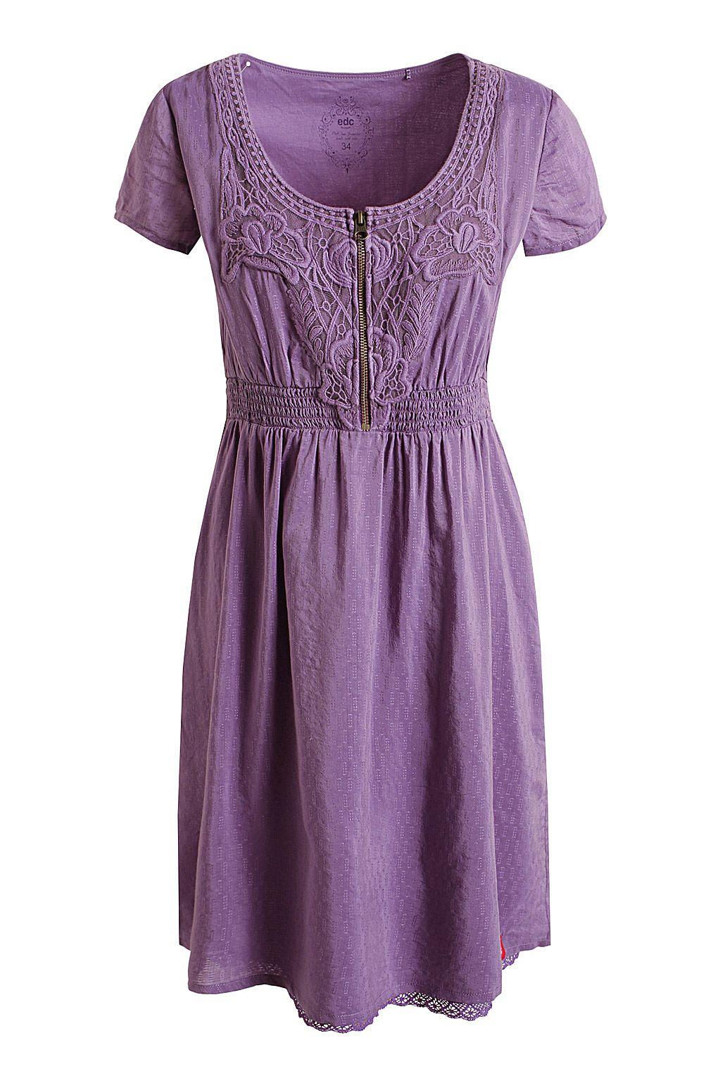 Robe en coton/viscose EDC - La boutique Esprit