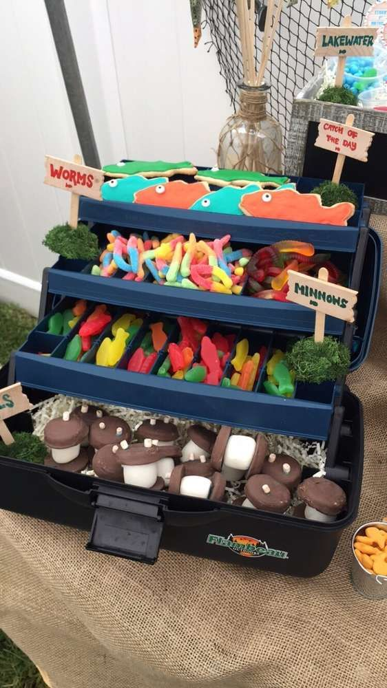 Gone Fishing Birthday Party Ideas Photo 2 Of 103 In 2019