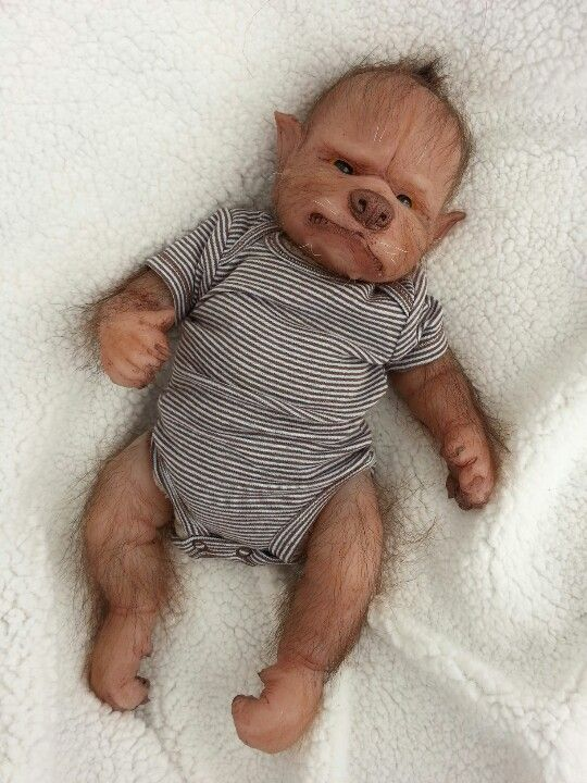6b94e898 Werepup by Asia Eriksen Scary Baby Dolls, Realistic Baby Dolls, Creepy  Dolls, Halloween