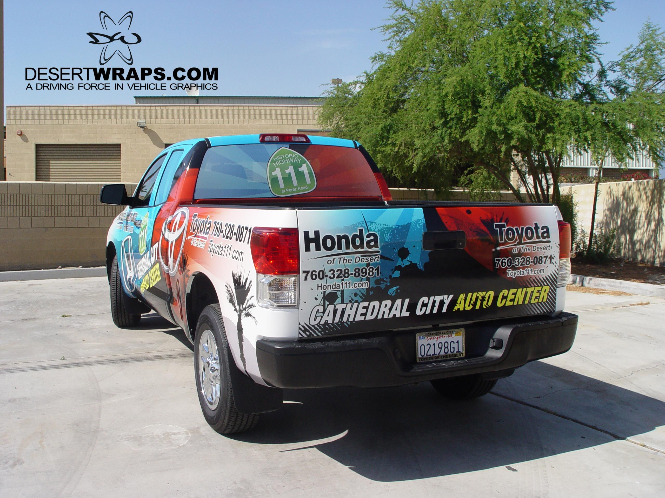 High quality and high resolution vinyl truck wrap for Honda of the Desert. Contact us DesertWraps.com 760-935-3600  #TruckWrap #Toyota #Tundra #Vinyl