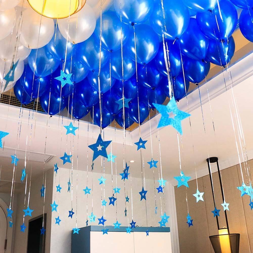 80Pcs Shiny Star Shaped Balloons Pendants Party