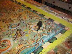 painted floor cloth