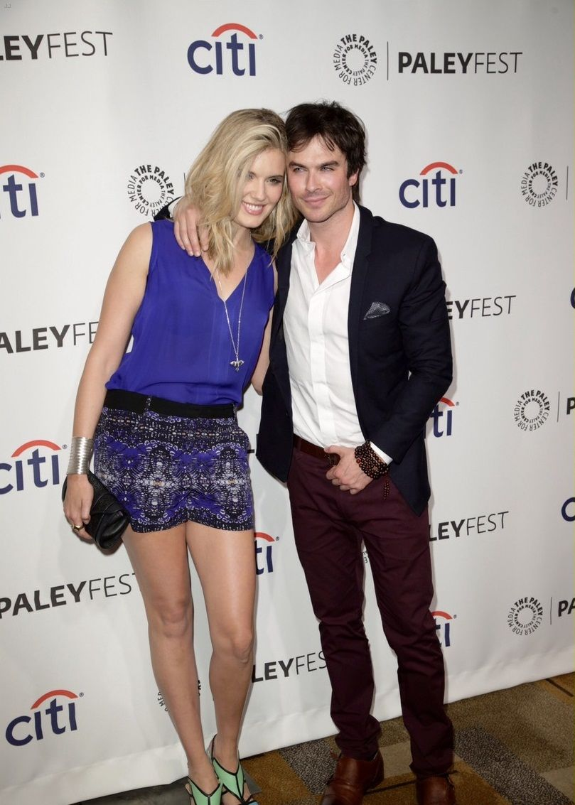 Ian Somerhalder reunites with Maggie Grace for the Lost 10th Anniversary Reunion during the 2014 Paleyfest held at the Dolby Theatre in Hollywood on Sunday night (March 16).
