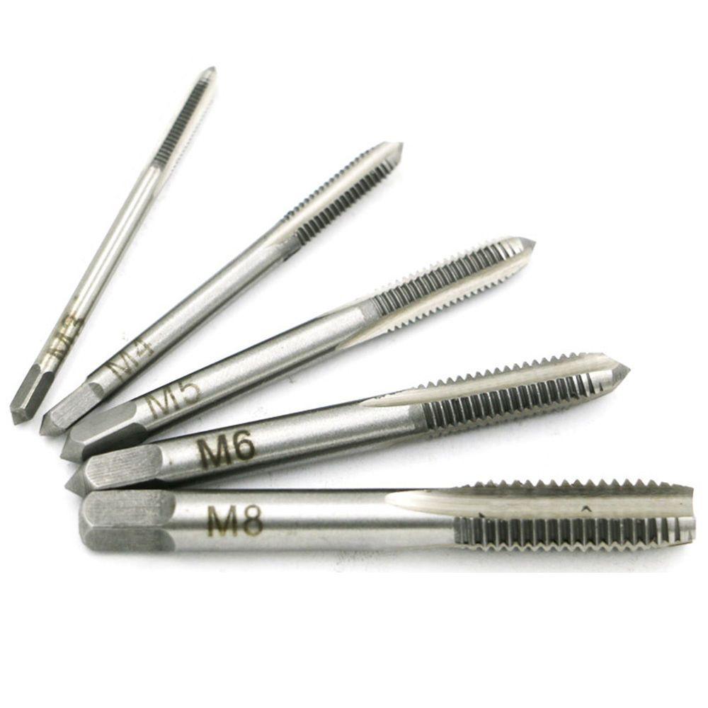 10 x M3x0.5 High Speed Steel HSS Screw Thread Metric Spiral Hand Tap Kit for CNC