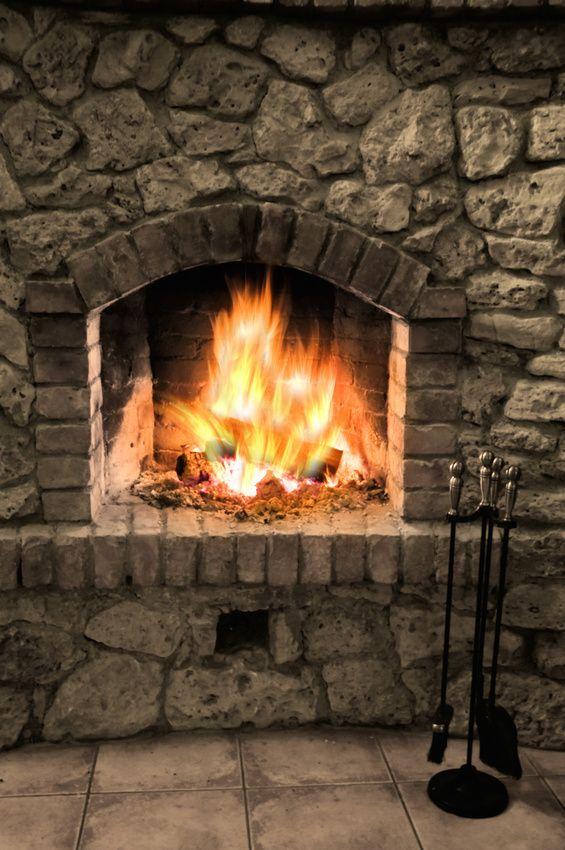 Brick And Stone Fireplaces brick stone fireplace - home design