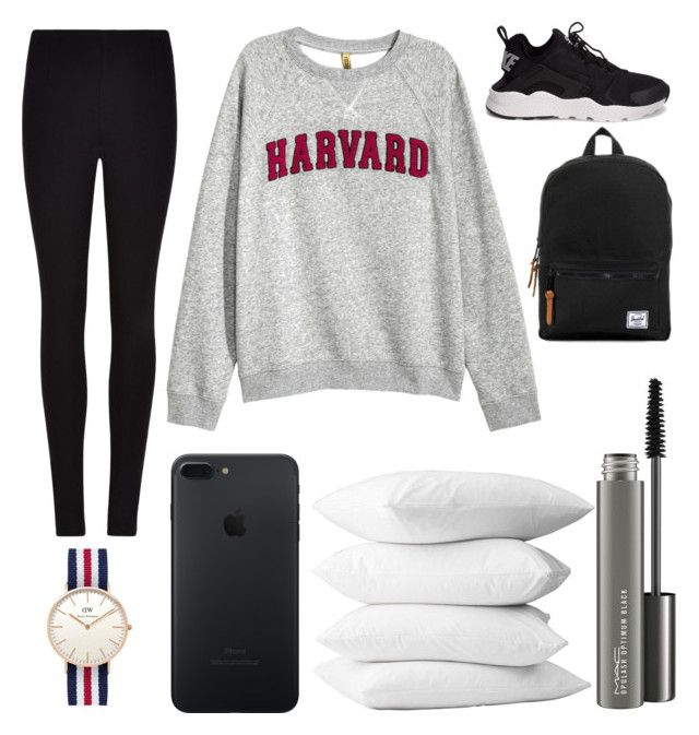 """""""First day of school"""" by annnnnnnnnn ❤ liked on Polyvore featuring NIKE, Winser London, MAC Cosmetics and Daniel Wellington"""