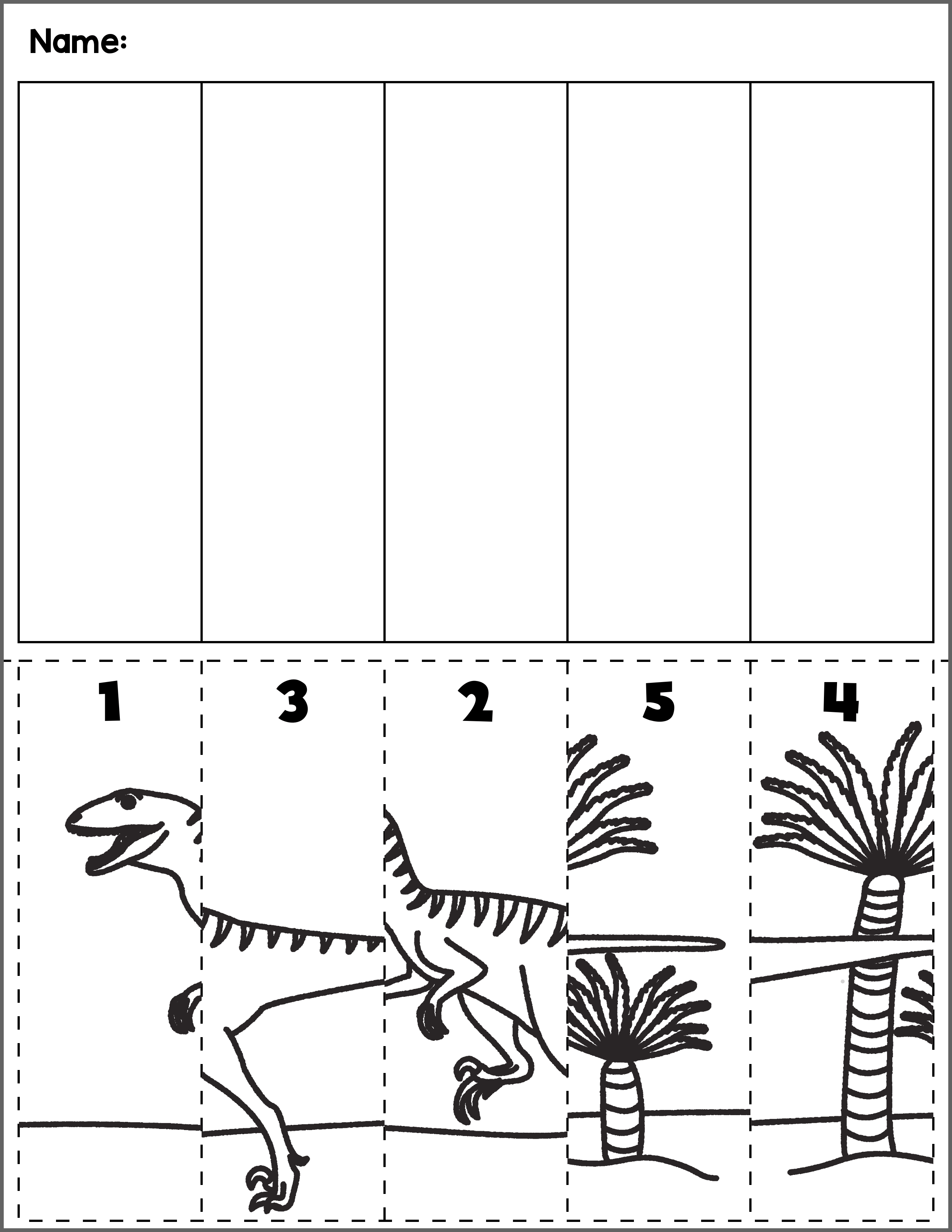 dinosaur scene number sequence group 5 autism activities for ages 3 5 number sequence. Black Bedroom Furniture Sets. Home Design Ideas