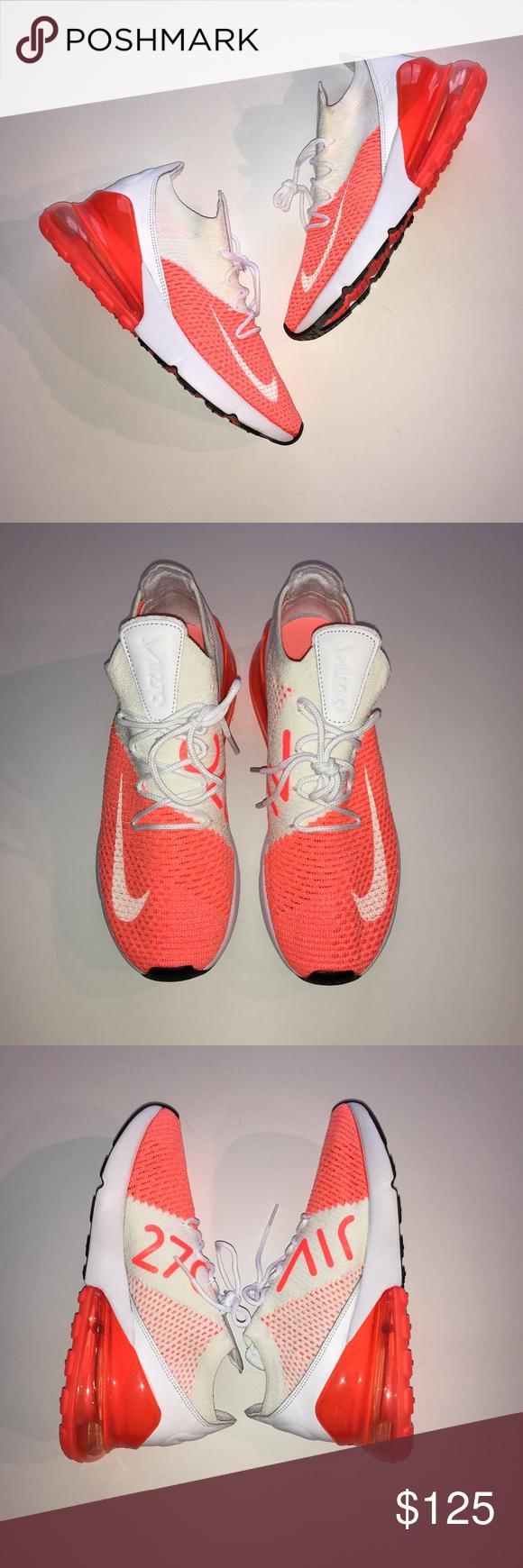 newest 31ea7 283fb Nike Air Max 270 Flyknit Crimson Pulse Sneakers Feel lighter ...