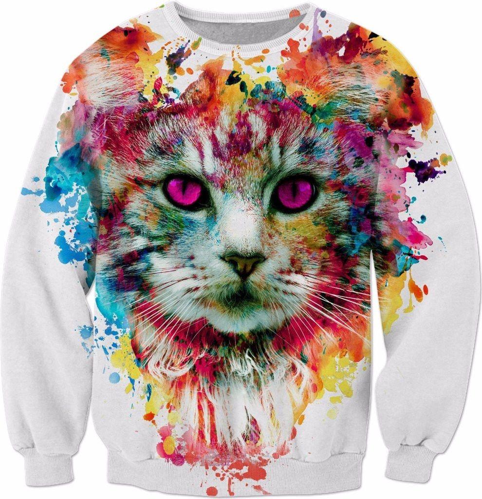 Top Cat 3d Sweatshirt Men Buy Quality Sweatshirt Men 3d Directly From China 3d Pullover Suppliers Cat Painting Sweatshirt Cat Painting Cat Art 3d Sweatshirts [ 1024 x 990 Pixel ]