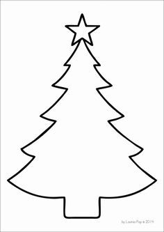 Rhyming Christmas Trees In My World Christmas Tree Stencil Christmas Tree Template Christmas Tree Crafts