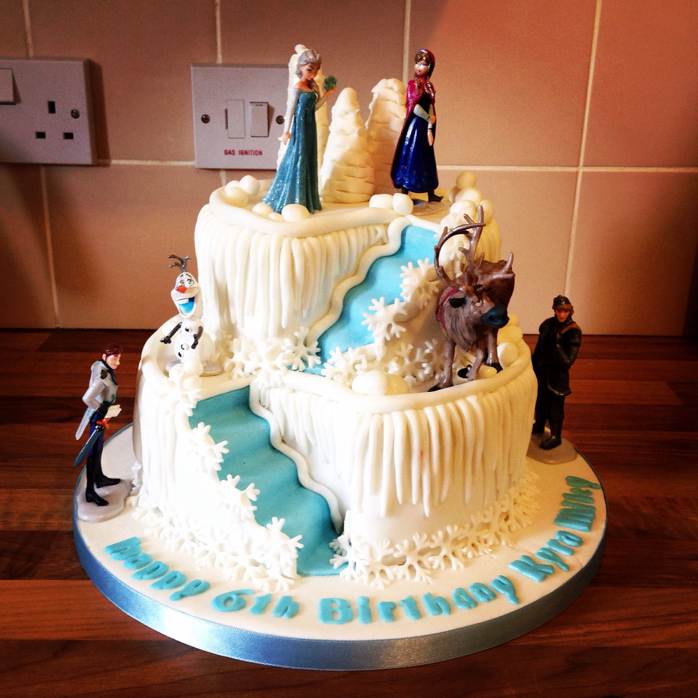 2 tier frozen double stair well cake Cakes Pinterest ...