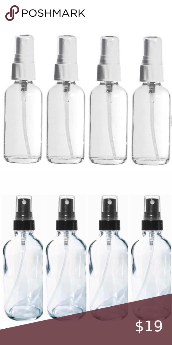 Four 4 Oz Flint Glass Fine Mist Spray Bottles In 2020 Fine Mist Spray Bottle Mist Spray Spray Bottle