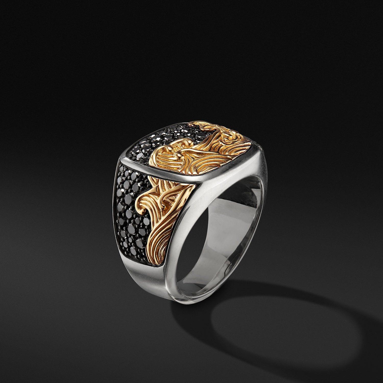 Waves Ring with 18K Gold David Yurman