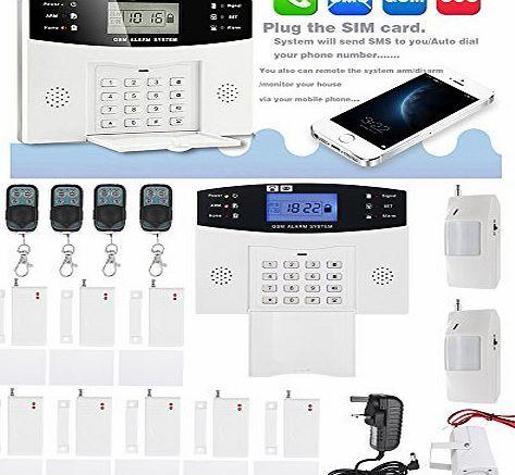 Kkmoon Burglar Alarm System Lcd Security Wireless Gsm Pir Auto Sensor Motion Detector Home Security Alarm K Home Security Alarm Home Security Home Alarm System