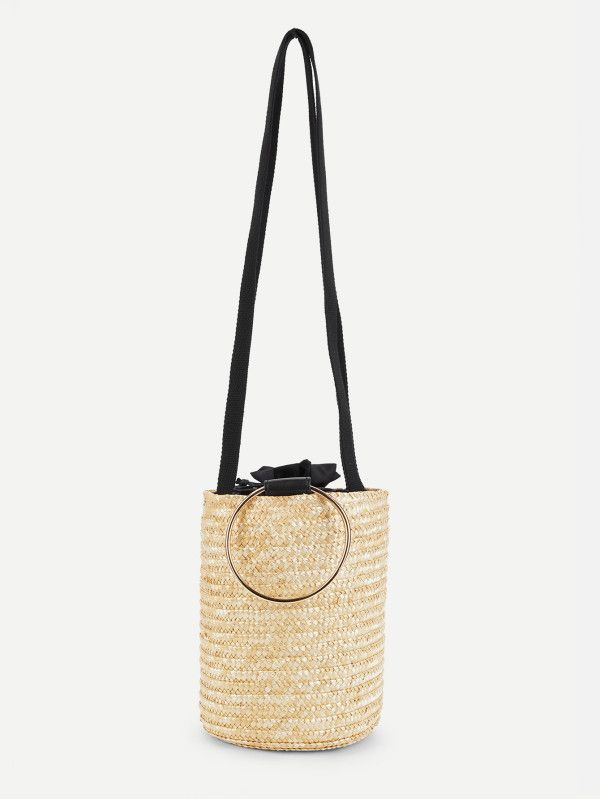 Only 13 Straw Bucket Bag With Ring Handle Chic Straw
