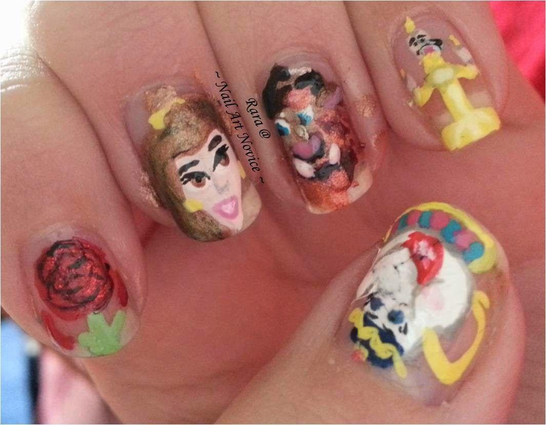 Nail Art Novice: Beauty and the Beast Nail Art | Nail Art - Disney ...
