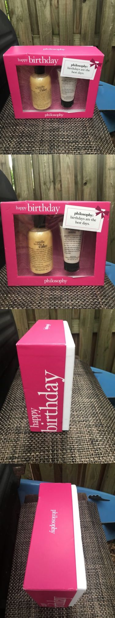 Bath Sets And Kits 67391 New Philosophy Vanilla Happy Birthday Sweet Cream Frosting Lotion Boxed Set BUY IT NOW ONLY 1998 On EBay