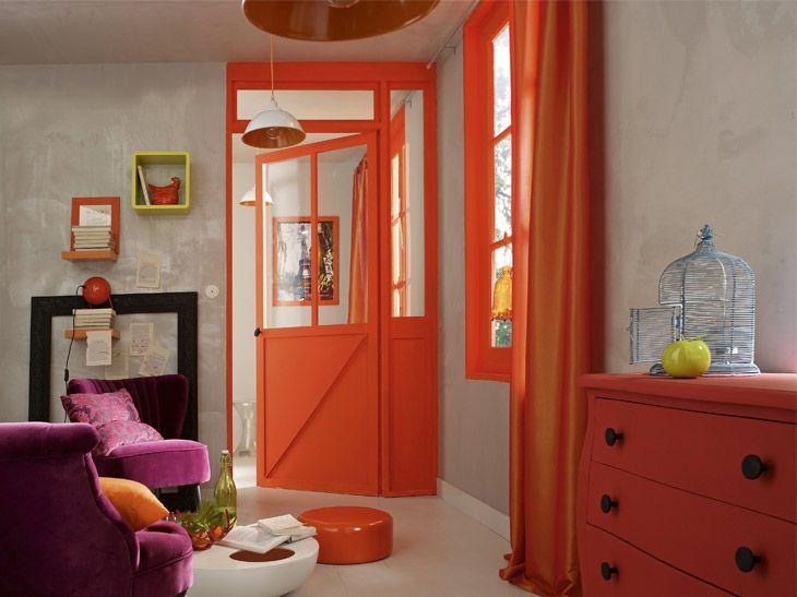Orange Mur Leroy Merlin Decoration Salon Peinture