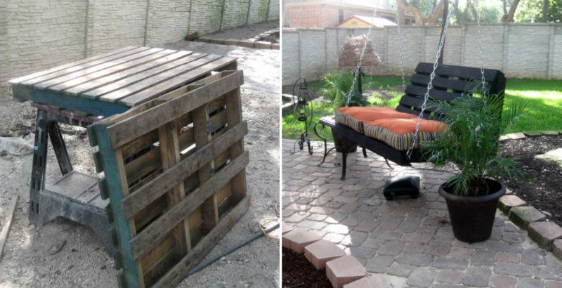 Build an extraordinary swing out of used pallets!