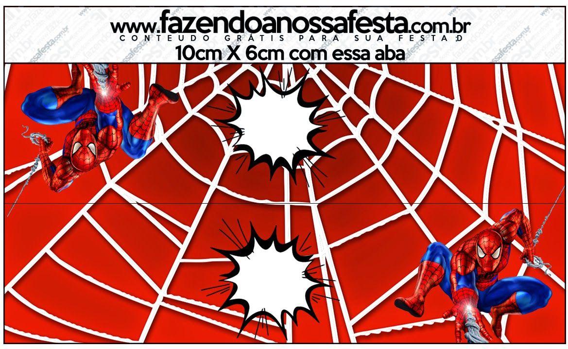 Spiderman: Etiquetas para Candy Bar para Imprimir Gratis