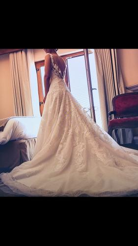 Vestido de novia blanco marca Pronovias estilo Ronan. Hermoso ...