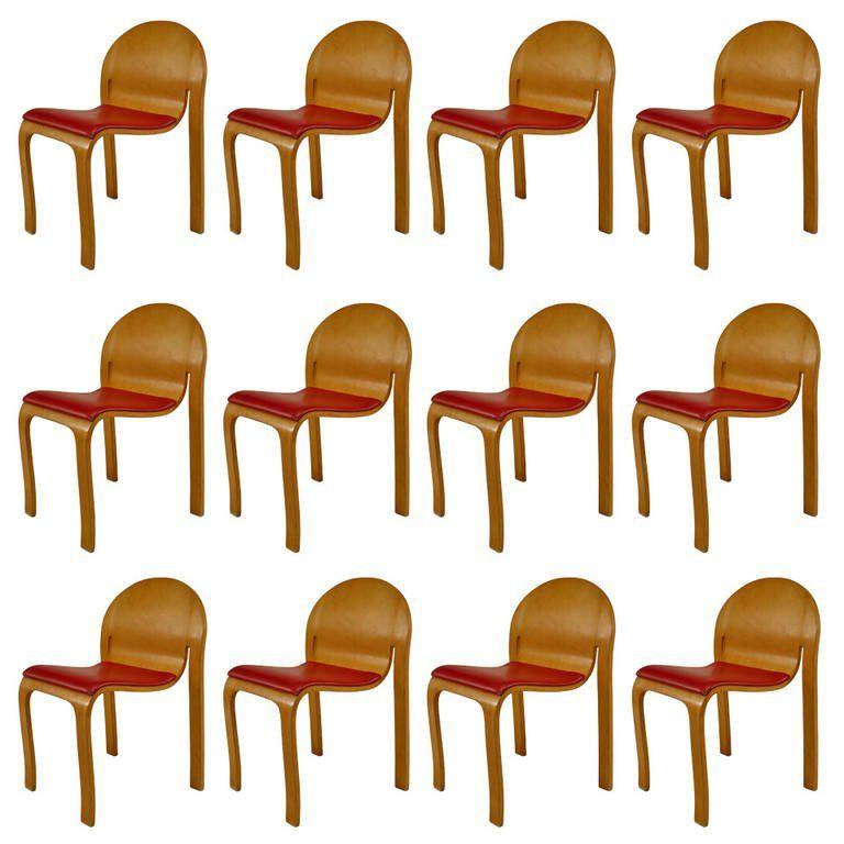 Elegant 12 Mid Century American Side Chairs By Peter Danko