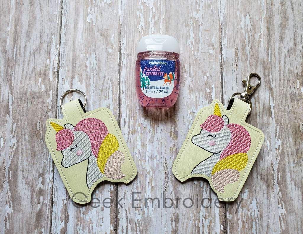 Cartoon Unicorn Hand Sanitizer Holder Hand Sanitizer Holder