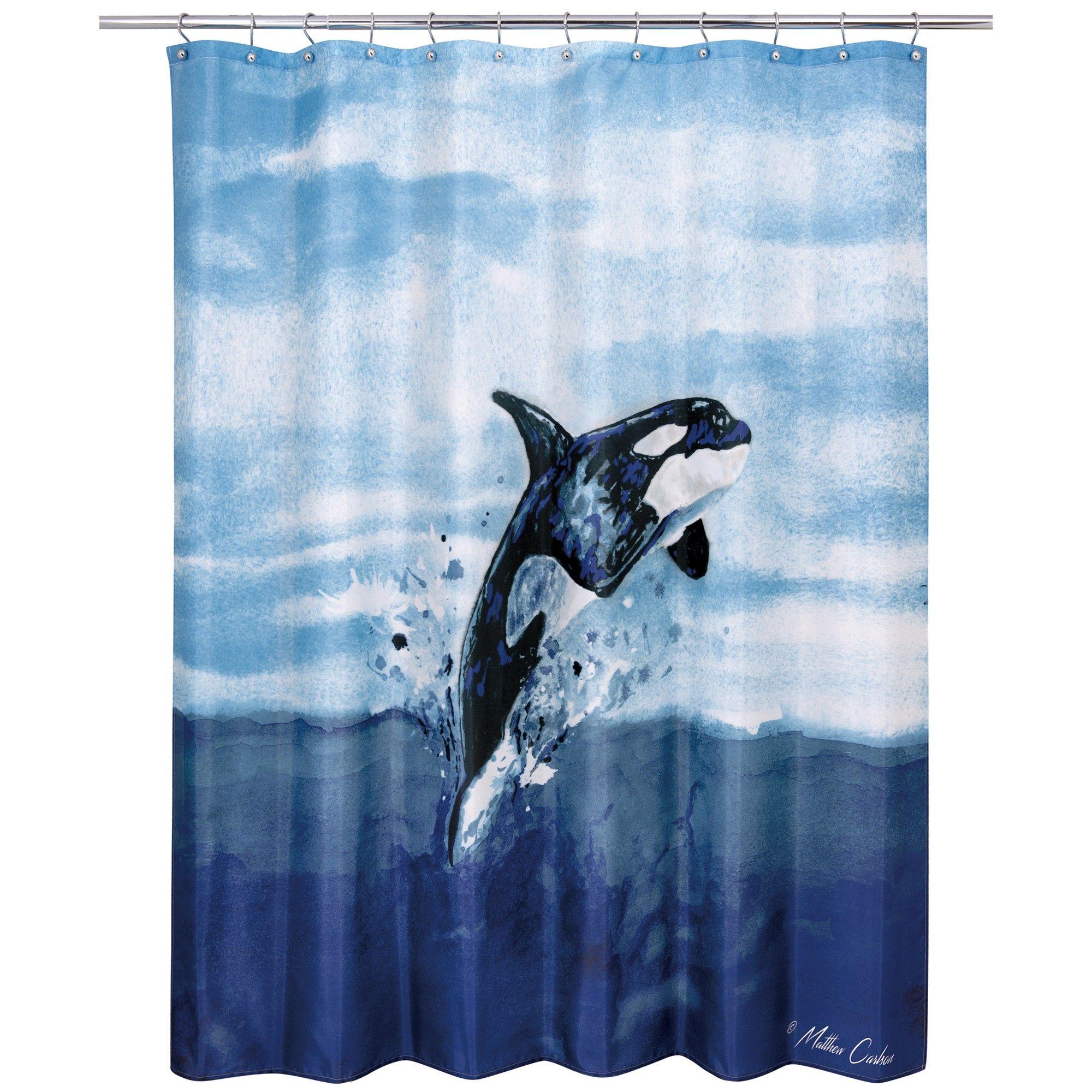 Orca Shower Curtain Blue