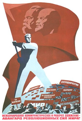 As much as I hate propaganda of any form, i always have loved the design of these old soviet posters.