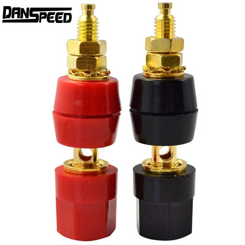1 Pair Gold Binding Posts Speaker Terminals