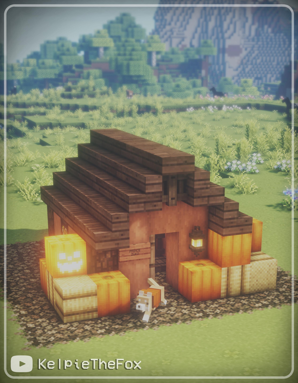 Pumpkin Spice Cottagecore Minecraft Dog House Autumn Halloween House