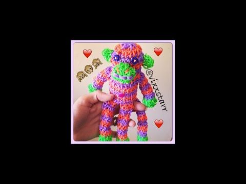 Amigurumi Loom Patterns : ▷ mini spunky sock monkey loomigurumi tutorial rainbow loom