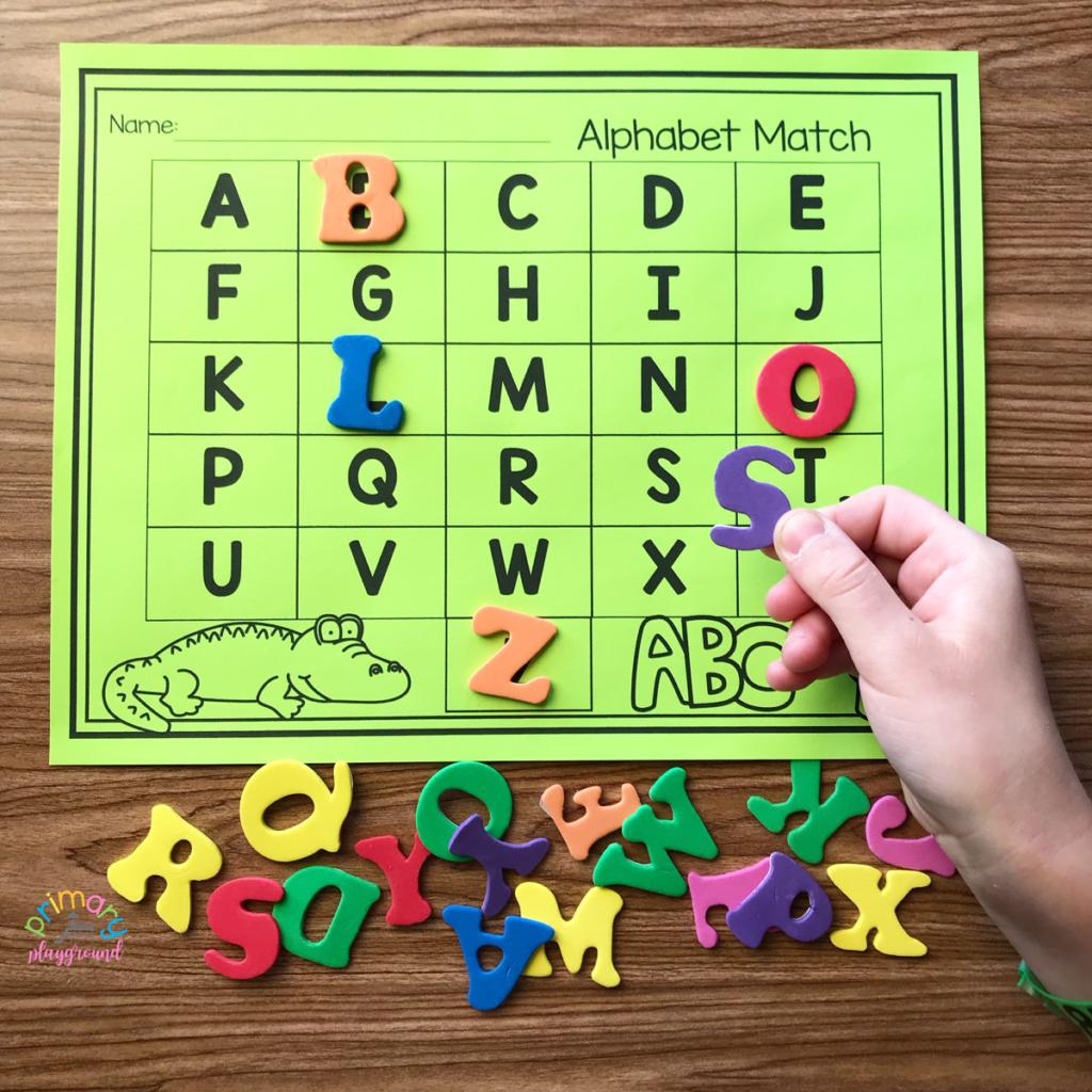 Free Printable Alphabet Match