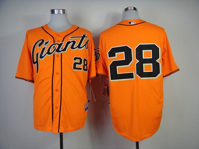San Francisco Giants 28 Buster Posey 2014 Orange Jersey