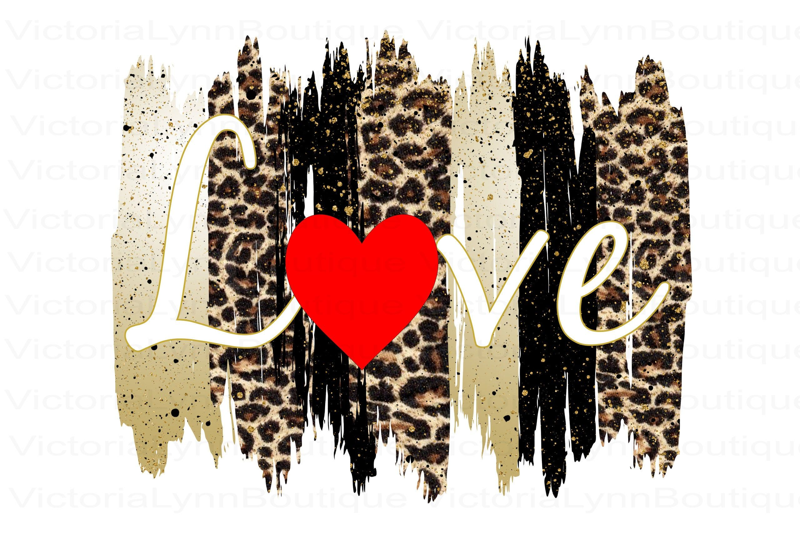 Love Heart Gold Leopard Brush Strokes Png For Sublimation Printing Valentine S Day Love Png Dtg Printing Instant Di Animal Print Wallpaper Love Png Prints