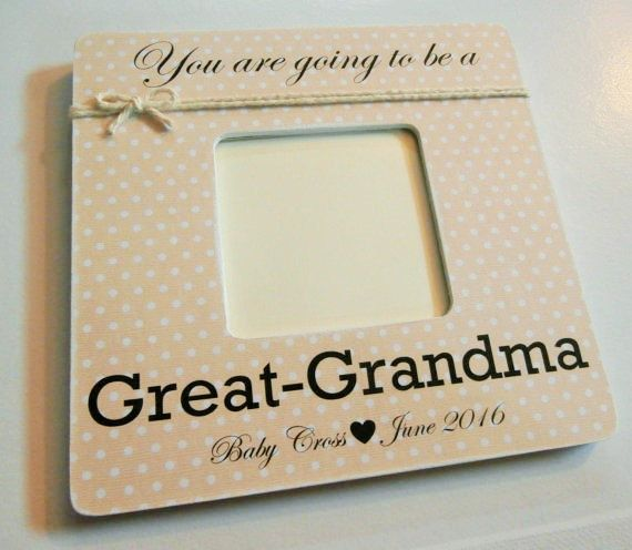 Great Grandparents picture frame, great grandma gift, pregnancy ...