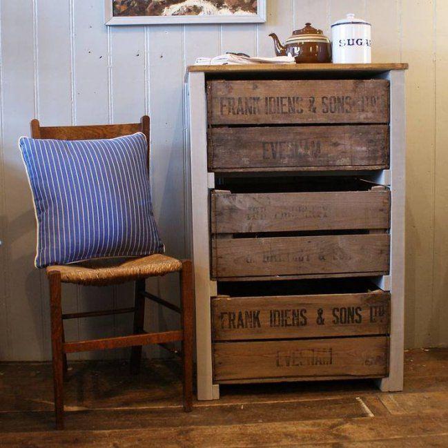 DIY muebles hechos con cajones de verdura | Cajones de verdura, Las ...