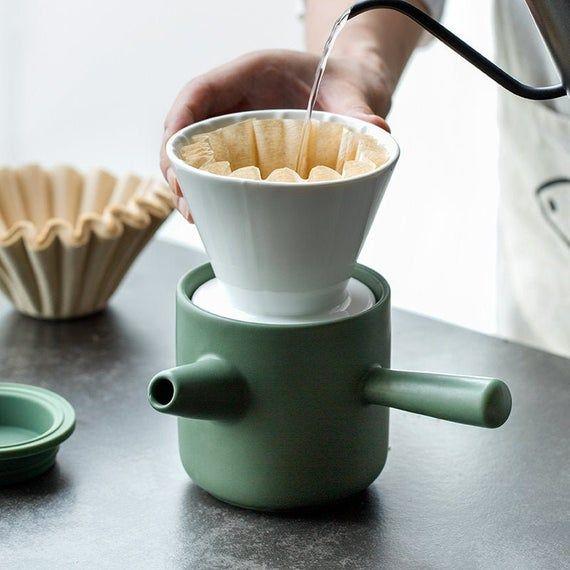 Pour Over Coffee Set, Ceramic Pour over, Gooseneck