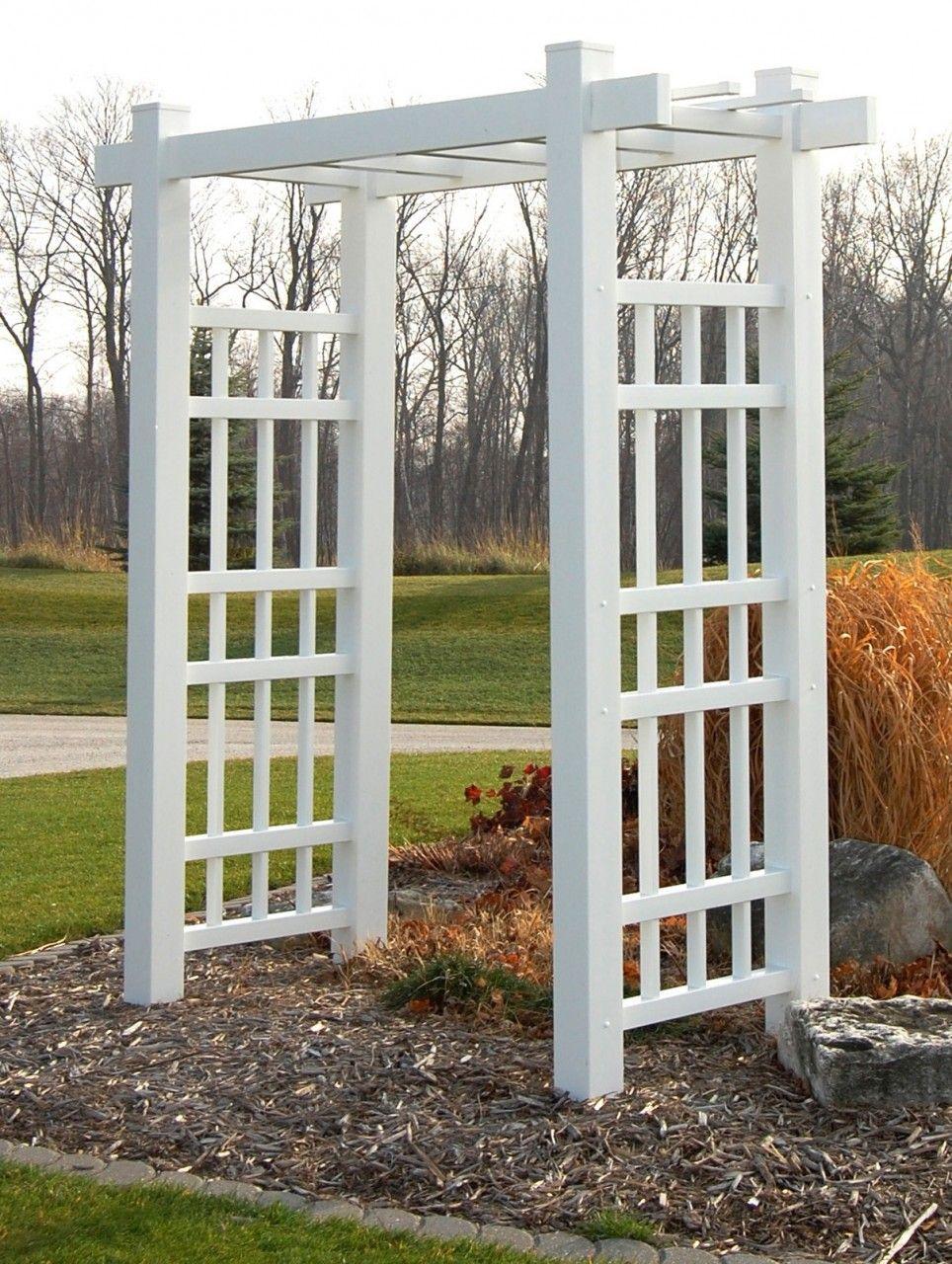 Arbor Idea Would Work Great In Yard Pavers Yard Jpg 964x1280 White Garden  Gate Trellis