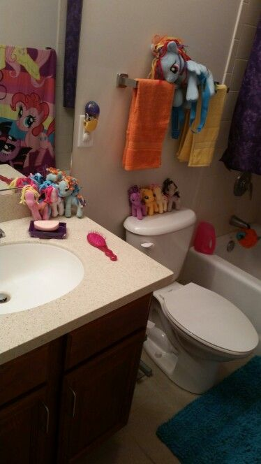 Gentil DIY My Little Pony Bathroom Theme Walmart And Clairs For The Toys MLP  Towel, And