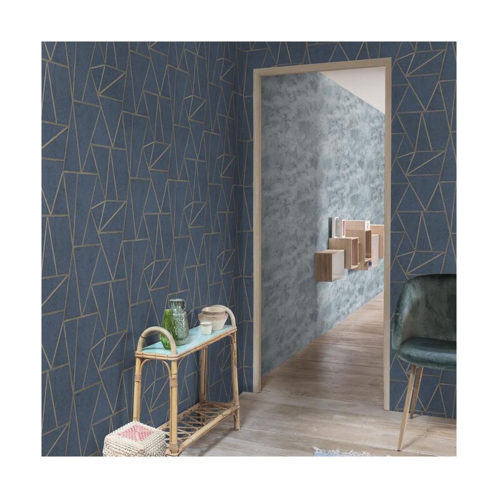 Tapeta Soho Niebieska Winylowa Na Flizelinie Tapety Na Sciane W Atrakcyjnej Cenie W Sklepach Leroy Merlin Home Decor Decor Home