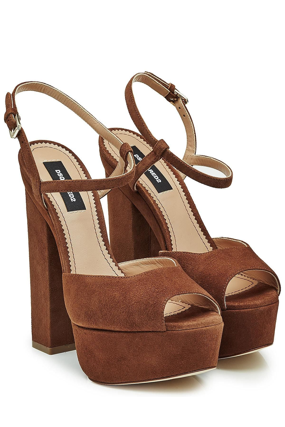 Largest Supplier Dsquared2 Suede Platform Sandals Buy Cheap Sale MKH9DeSmW4