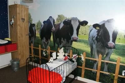 Red Black And White Farm Theme Nursery Picture Cow Baby I Designed This In Honor Of My Father Who Has Just