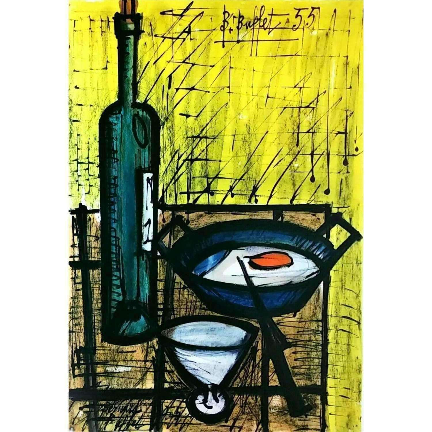 Strange Bernard Buffet The Breakfast 1955 Original Collotype Download Free Architecture Designs Lectubocepmadebymaigaardcom