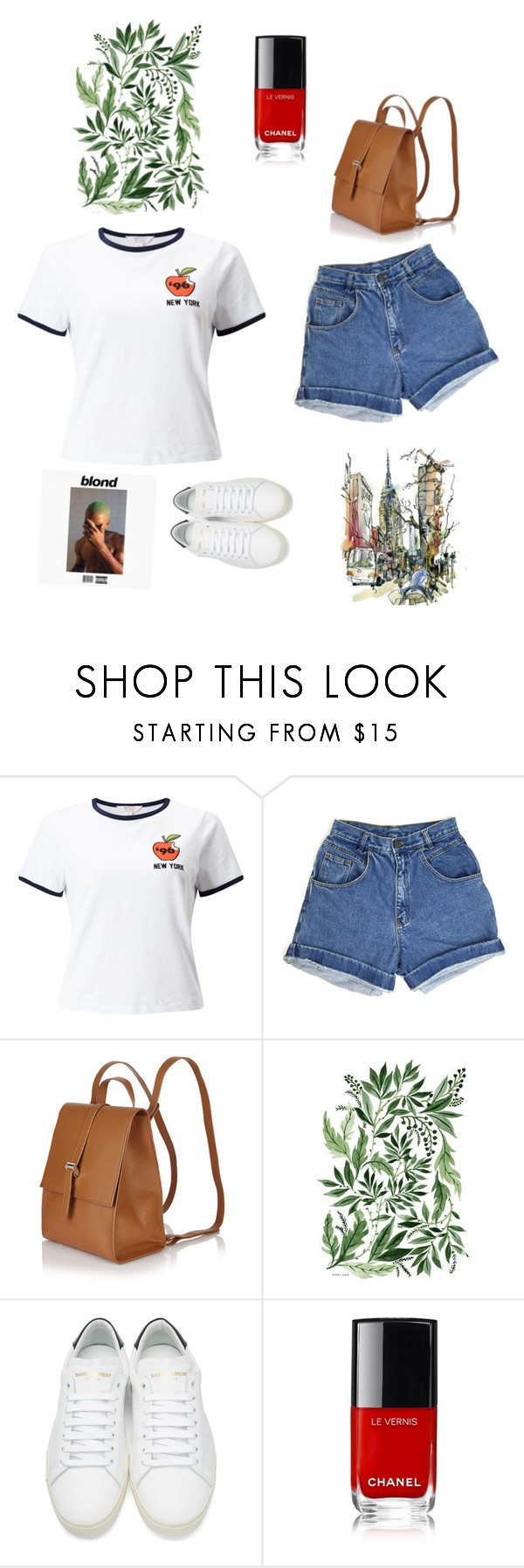 """""""simple//"""" by lyee27 ❤ liked on Polyvore featuring Miss Selfridge, Meli Melo, Yves Saint Laurent and Paul Frank"""