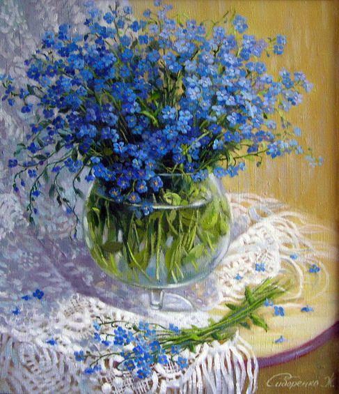 Ж. Сидоренко   Цветочные картины, Цветы, Цветочное искусство